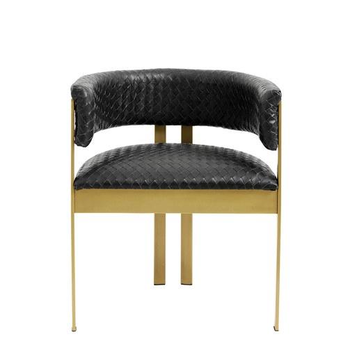 丹麥Nordal 手工編織皮革鑲嵌奢華單椅