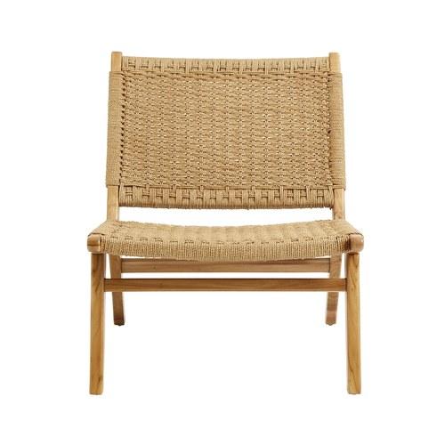 丹麥Nordal 經典款繩編柚木休閒椅