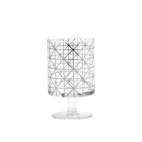 丹麥Nordal 派對線條玻璃杯 (菱紋)