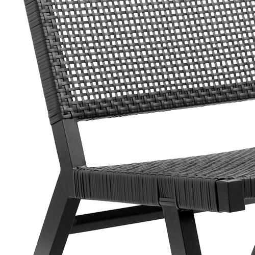 丹麥Nordal 戶外黑色編織靠背扶手椅