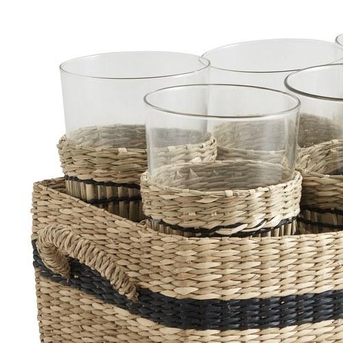 丹麥Nordal 南洋風情編織水杯組 (6入)