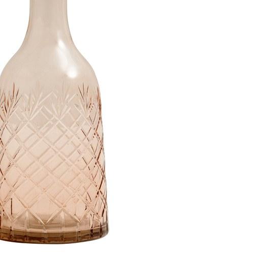 丹麥Nordal 手工切割透彩玻璃醒酒器 (中、玫瑰粉)