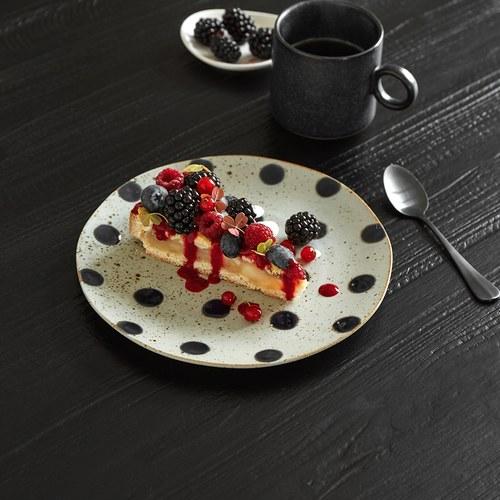 丹麥Nordal 復古點點餐盤 (藍莓、直徑21公分)