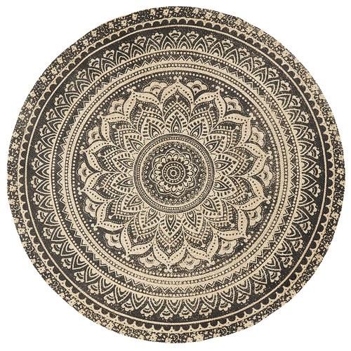 丹麥Nordal 復古花磚圖紋編織圓地毯 (直徑150公分)