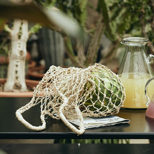 丹麥Nordal 手工編織網狀簍空提袋 (大)