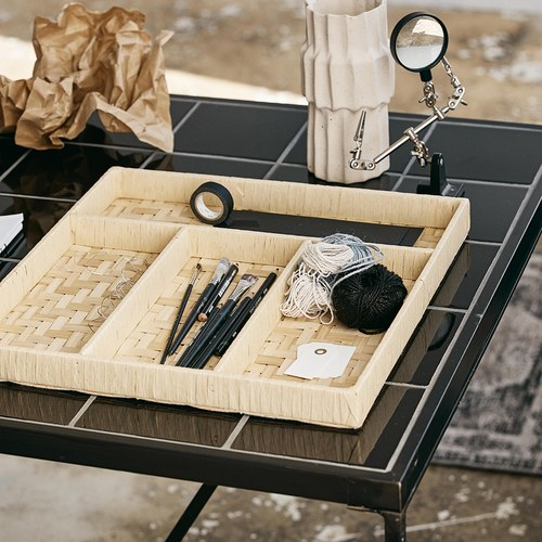 丹麥Nordal 手工竹編刀叉收納盤