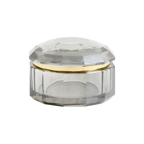 丹麥Nordal 煙灰色水晶玻璃收納盒