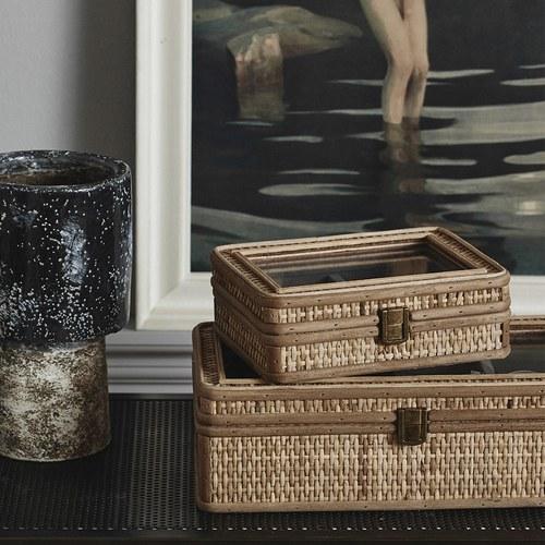 丹麥Nordal 鄉村編織多格收納盒 (小)