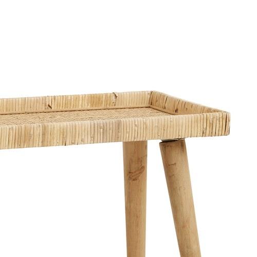 丹麥Nordal 手工藤編托盤邊桌(中、60公分)