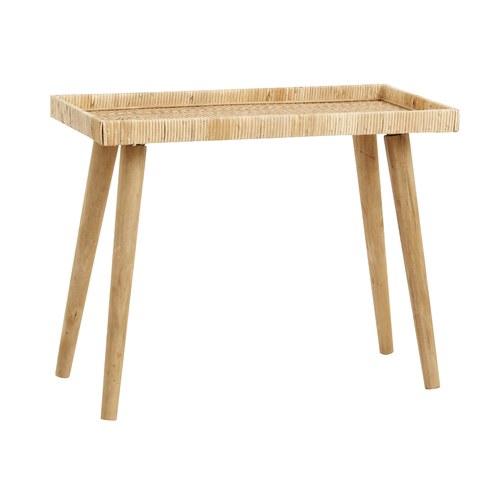 丹麥Nordal 手工藤編托盤邊桌(大、70公分)