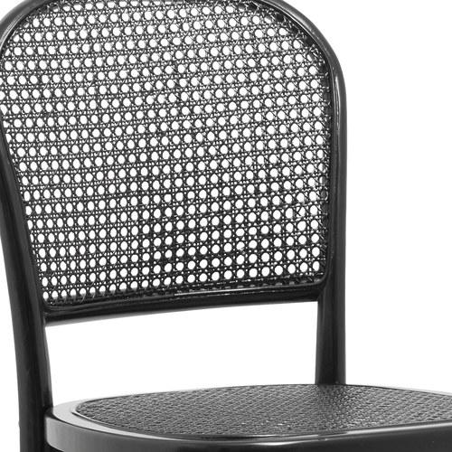丹麥Nordal 藤編圓孔格線簍空單椅 (黑)