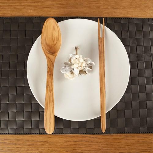 丹麥Scanwood 寬柄橢圓湯匙 (長25公分)