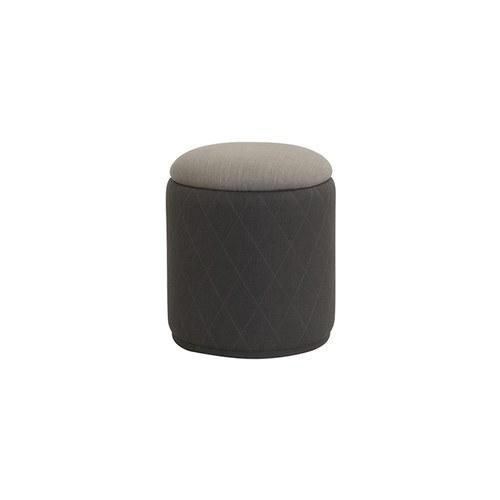 夏馬選物ShiamalSelect 菱紋布面圓形椅凳 (灰)
