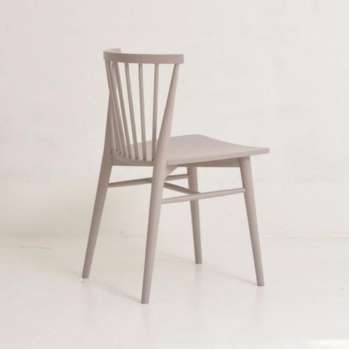 丹麥Sketch 鏤空椅背單椅(拿鐵)
