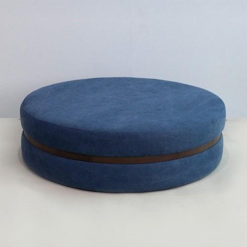 丹麥Sketch 深藍色布面圓凳 (直徑123公分)