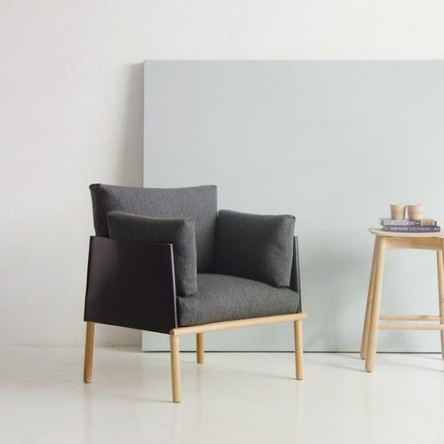 丹麥Sketch 北歐風簡約單人沙發 (黑)
