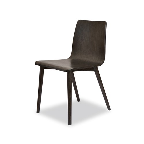 丹麥Sketch 簡約木作L型單椅 (黑)