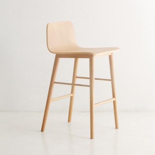 丹麥Sketch 簡約L型高腳吧台椅 (橡木)