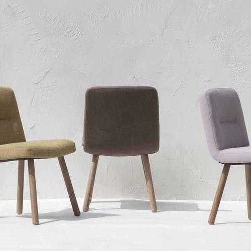 丹麥Sketch 簡約布面L型單椅 (干邑棕)