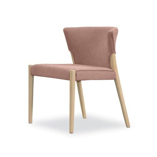 丹麥Sketch 圓弧包覆靠背天鵝絨單椅 (粉)
