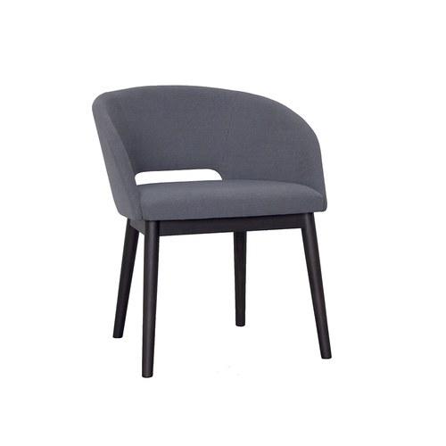 丹麥Sketch 圓弧靠背皮革單椅 (岩灰)