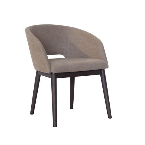 丹麥Sketch 圓弧靠背布面單椅 (干邑棕)