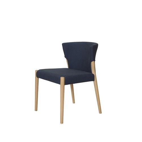 丹麥Sketch 圓弧包覆靠背布面單椅 (深藍)