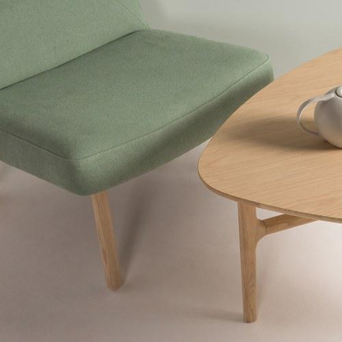 丹麥Sketch 圓弧包覆靠背布面單椅 (綠)