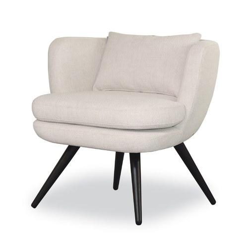 丹麥Sketch 碗型布面單人椅 (灰白)
