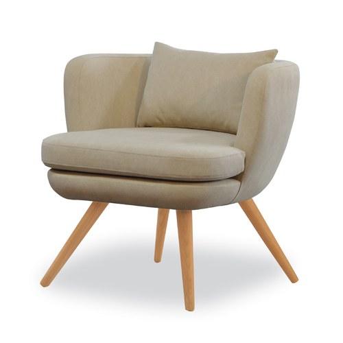 丹麥Sketch 碗型布面單人椅 (棕)