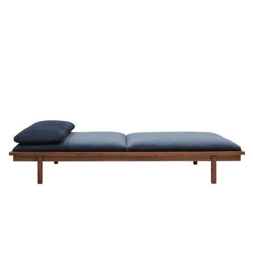 丹麥Sketch 天鵝絨休憩坐臥兩用床 (深藍)