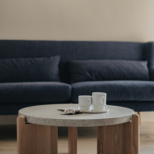 丹麥Sketch 北歐優雅扶手三人沙發 (深藍)