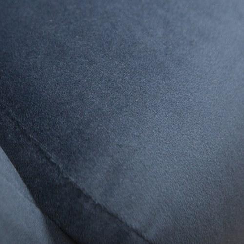 丹麥Sketch 優雅絨布拉釦單人沙發 (午夜藍)