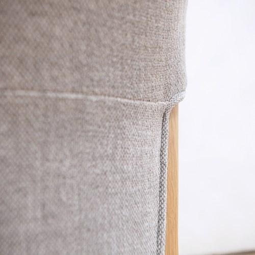 丹麥Sketch 圓弧包覆靠背布面單椅 (暖灰)