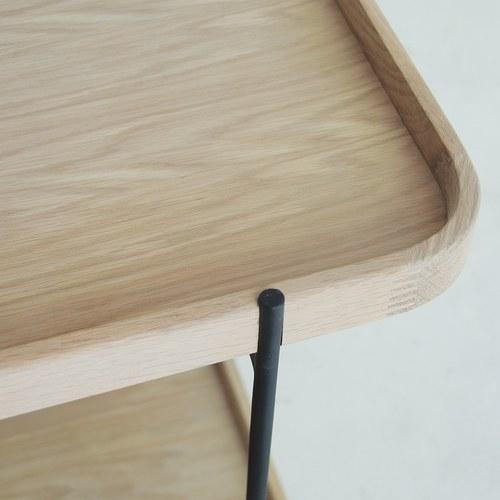 丹麥Sketch 立體邊緣雙層矩形邊桌 (橡木)