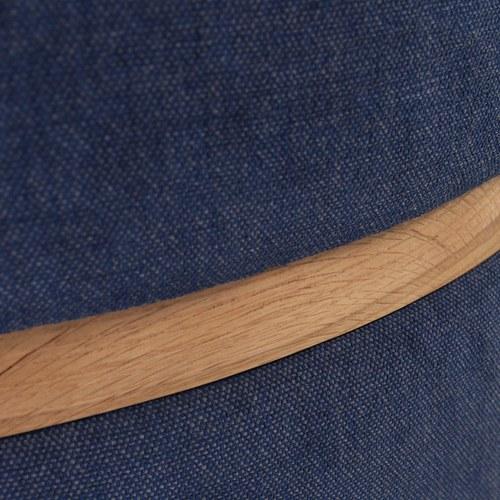 丹麥Sketch 深藍色布面圓凳 (直徑83公分)