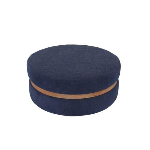 丹麥Sketch 深藍色布面圓凳 (直徑63公分)