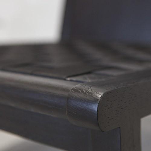 丹麥Sketch 編織網狀斜邊休閒皮革躺椅