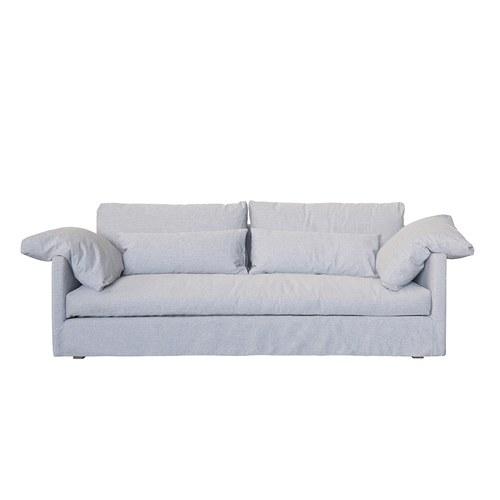 丹麥Sketch Island優雅情調法式三人沙發(冰藍)