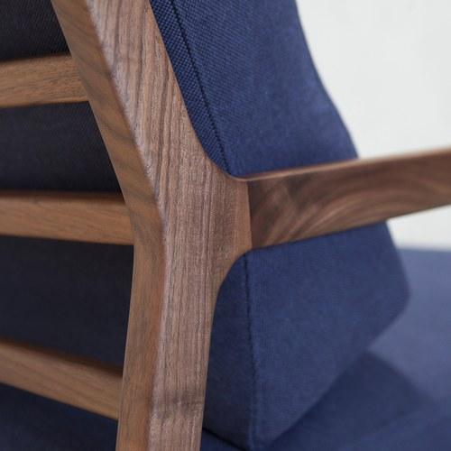 丹麥Sketch 斜背休閒單人沙發 (靛藍)