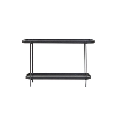 丹麥Sketch 立體邊緣雙層矩形邊桌 (黑)