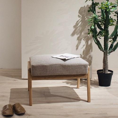丹麥Sketch 北歐休閒布面椅凳 (米)