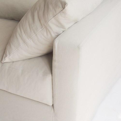 丹麥Sketch Sloopy自由氣息法式三人沙發(象牙白)