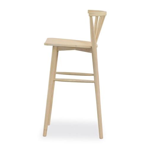 丹麥Sketch 鏤空椅背高腳吧台椅 (橡木)