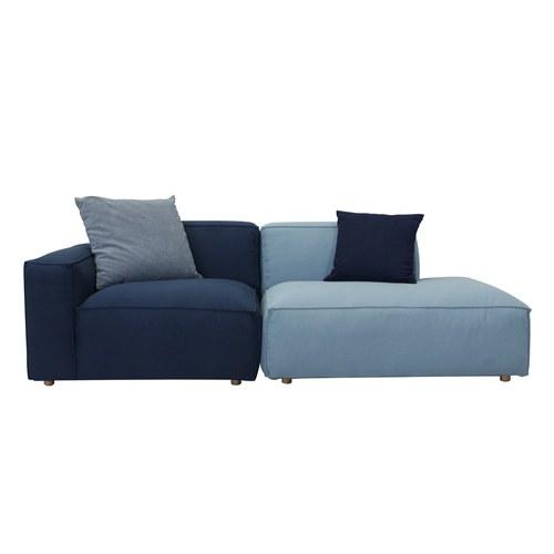 丹麥Sketch 輕北歐泡芙積木沙發 (深藍)