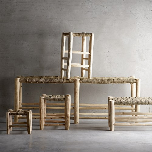 丹麥tineKhome 棕櫚繩編織椅凳 (高20公分)