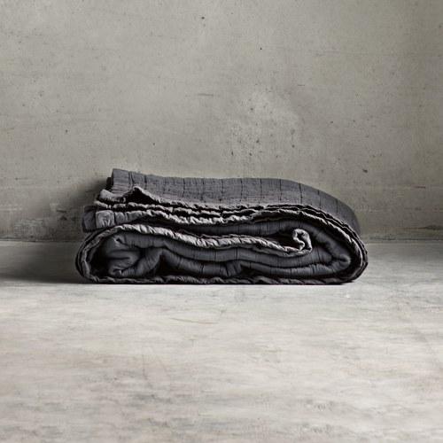 丹麥tineKhome 銀絲矩陣薄毯 (魅影灰)