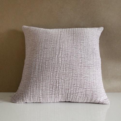 丹麥tineKhome 微皺質感方形靠枕 (藕紫、長50公分)