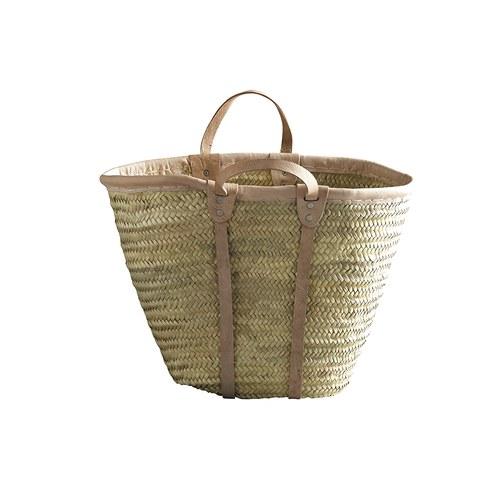 丹麥tineKhome 棕櫚葉編織提袋 (棕)