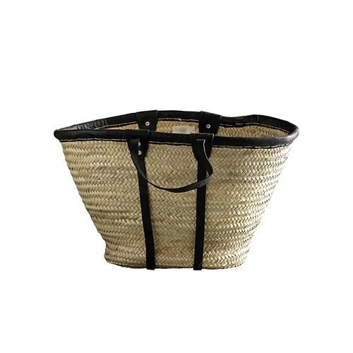 丹麥tineKhome 棕櫚葉編織提袋 (黑)
